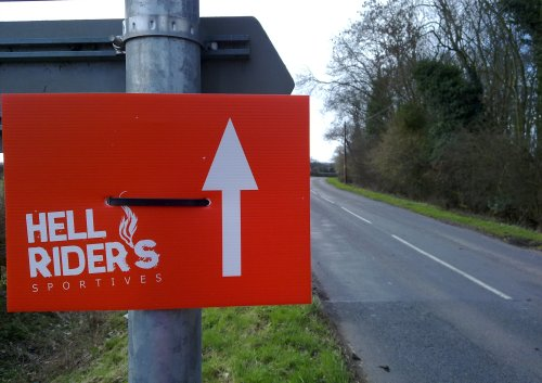 Hell Riders Spring Sportive Signage