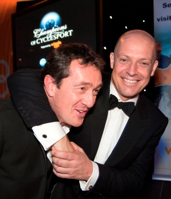 Chris Boardman MBE and Sir Dave Brailsford at the 2012 Event