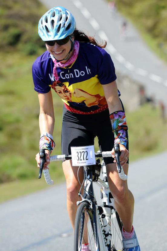 Plymouth's Sarah Danning participating in the Dartmoor Classic