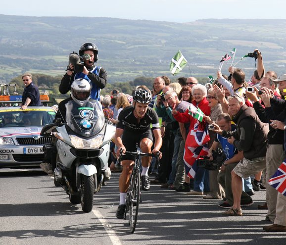 John Tiernan Locke at Haytor in the 2011 Tour of Britain