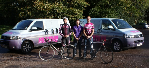 Left to Right: Simon Thomson (Kilo To Go), Ben Sutcliffe (Caudwell Children), Geoff Saxon (Kilo To Go)