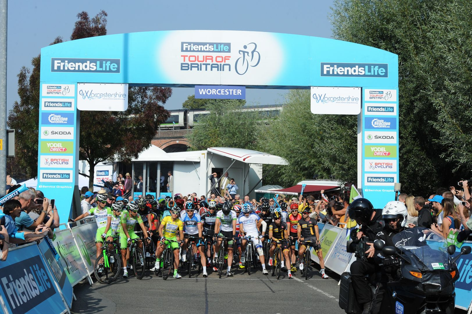 Worcester hosted the start of Stage Four of the 2014 Friends Life Tour of Britain
