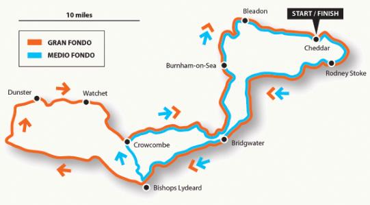 Somerset Hills Gran Fondo Map
